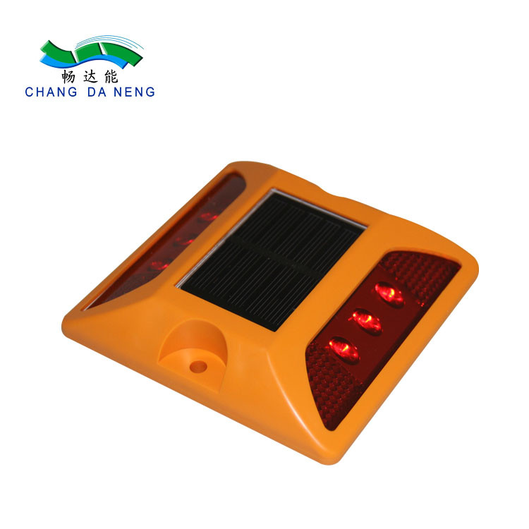 IP68 waterproof solar energy led blinking plastic roadway road stud traffic signal lights