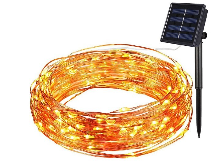 Individually Addressable Solar Led Multicolor String Hanging Christmas Lights